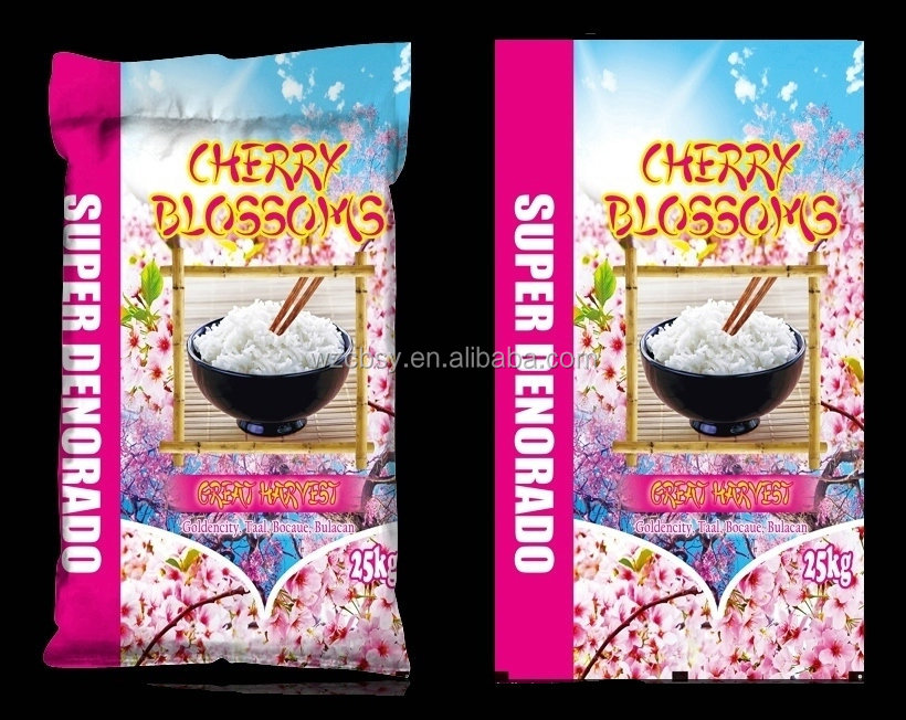 Plastic Material and top thermally sewed Sealing & Handle sugar packing plastic bag