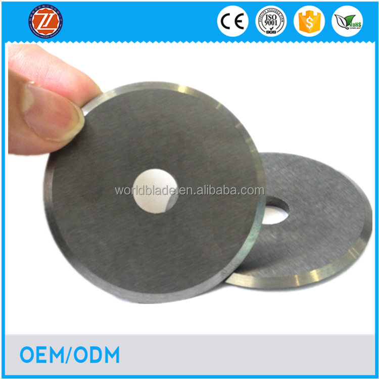 1mm thickness round blades tobacco cutting knife manufacturer