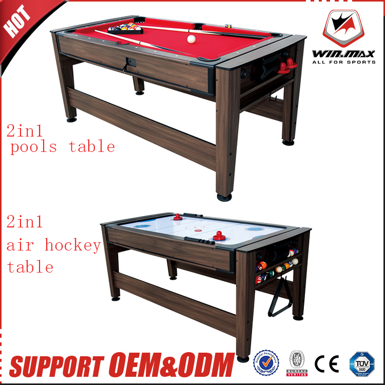 2017 whole sale sport tables In stock 2 in 1 7ft air hockey table with pool table