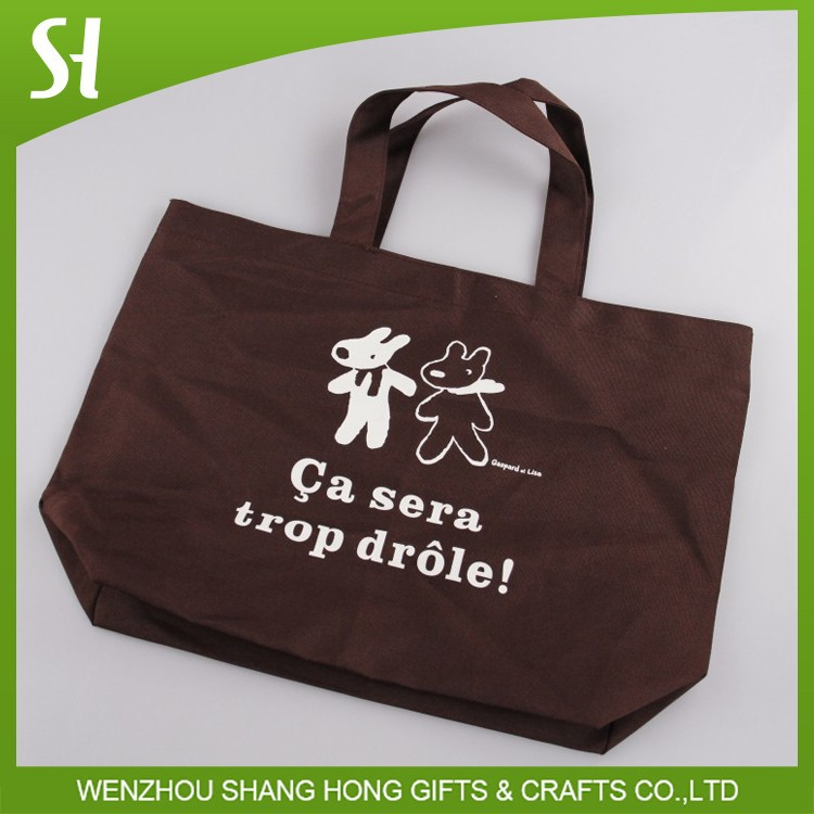 wholesale China custom logo cartoon animal Penelope canvas cotton shopping shoulder bag for school student library promotion