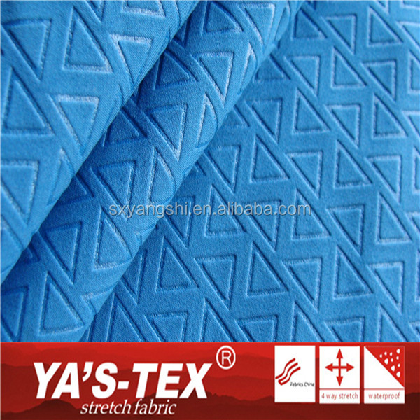High Quality 3 Layers Polyester Bonded Fabric Spandex Embossed Polar Fleece Fabric