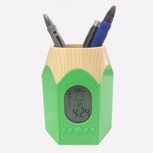 New design pencil shape calendar pen holder with backlight function