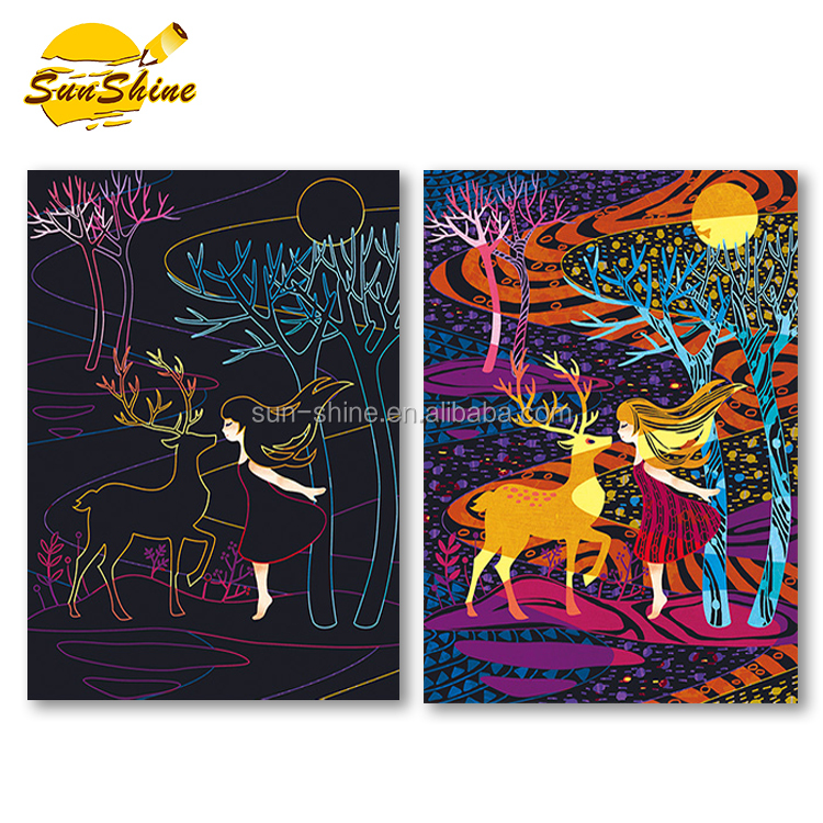 3D coloring story Scratch art