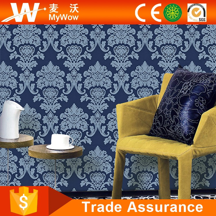 Beautiful Interior Decorative Damask Wallpaper Suppliers China