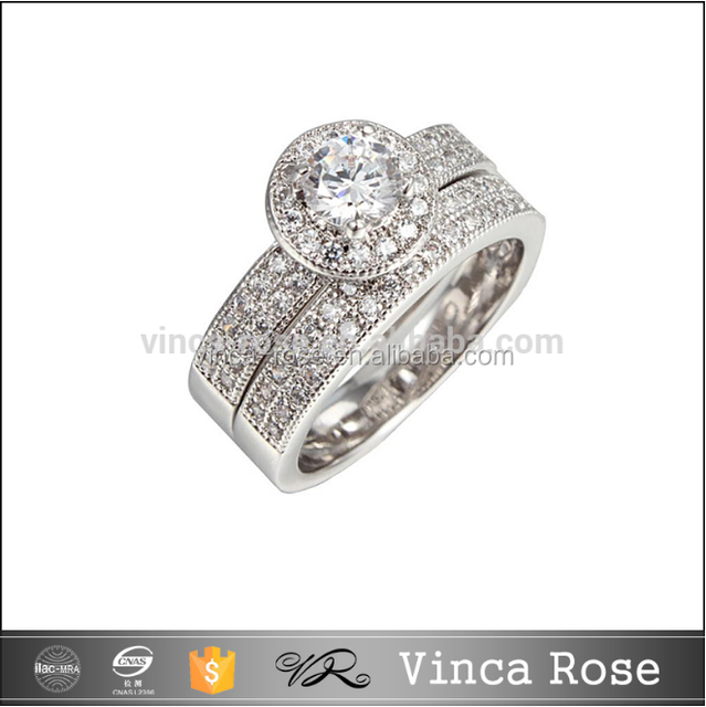 Rhodium or gold plated sterling silver 925 cz jewellery wholesale