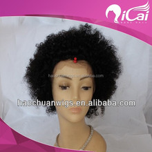 African kinky curly human hair lace front wig for women or man