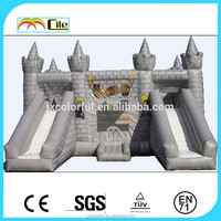CILE Kids Outdoor Inflatable Double Lane Air Bouncer Slides