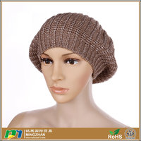 Womens Fashion Soft Lightweight Knit Beret Beanie Hat In Soild Color