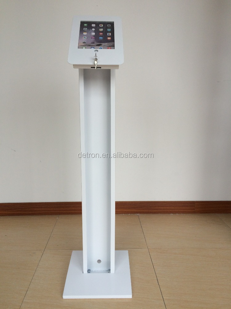 Metal Stylish Freestanding IPad Kiosk Display Floor Stands