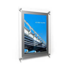 A3 Easy changing picture floating acrylic plexiglass wall photo frame