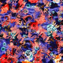 Hot sale professional colourful printed burnout velvet fabric silk