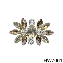 Yiwu Renqing High Heel shoe parts Rhinestone Shoe Clip for women ladies girls