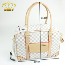 Fashion Style PU Excellently Tailored Plush Ladies Dog Carriers Bags