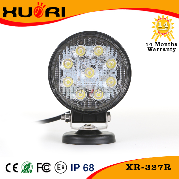 High power led light automotive with good after sale service truck accessories 27w led work light