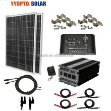 MPPT Complete Kit 185Watt 185W TUV Poly Solar Panel 24V RV Boat Off - Grid