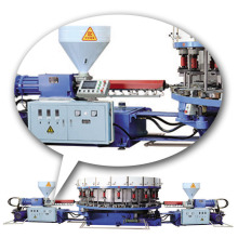 automatic rotary plastic double color shoe direct injection molding machine