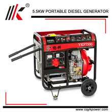 4 stroke water cooled single cylinder portable low noise generator set with vertical shaft diesel engine for sale