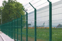 GM hot sale PE coted high quality best price garden fence with post