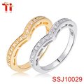 crystal ring diamond zircon stone latest gold ring designs heart wedding engagement bands sterling silver 925 rings jewelry