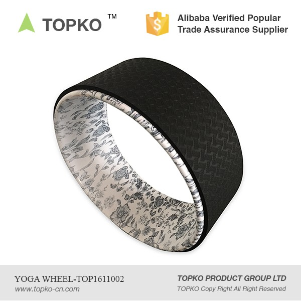 TOPKO Hot Sale Custom Logo Exercise Fitness Sports Printed Yoga Wheels