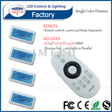 4 groups 3 channel controller wireless 2.4g rf single color led dimmer