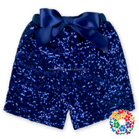 Navy Summer Shiny Baby Girl Gold Sequin Shorts Little Girls Sparkling Shorts Newborn Baby Sequin Short Wedding Pants