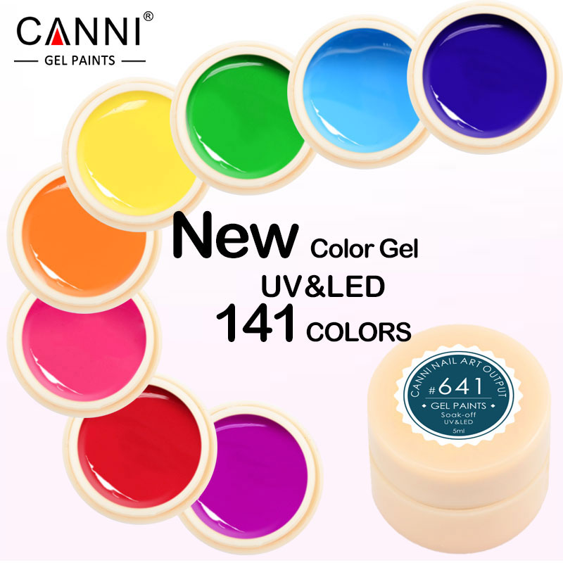 #50618J 2017 New CANNI 141 Color 5ML Nail Arts Design Professional Nail UV <strong>Gel</strong> Paint UV <strong>Gel</strong>