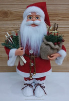New felt standing father christmas with gift bag
