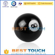 Customized car 8 * 1.25 thread 8 eight ball pool gear shifter knob with convert nut