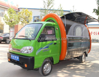 china four wheels electric mobile food cart design ith CE approved