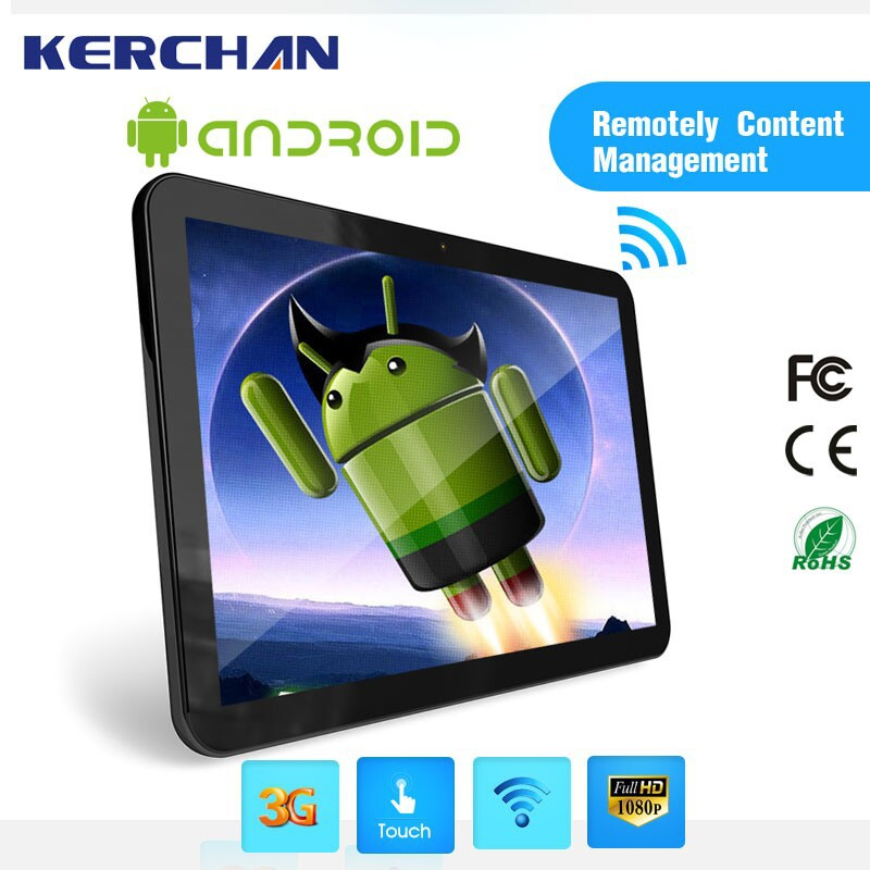 15.6 Inch wall mounted android tablet 4gb ram ,freestanding lcd 10inch media player