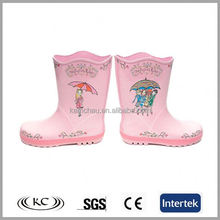 Lovely sunflower light pink boots rain for kids