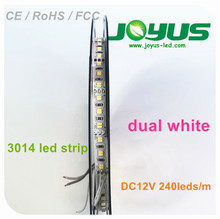 Bicolor led bande 12 v, 12 v led light strip 3014 240 leds / m double face bande flexible