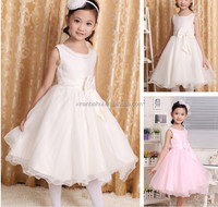 New style fashion baby girl dress,girls birthday party Chiffon dresses pure white princess flower dresses