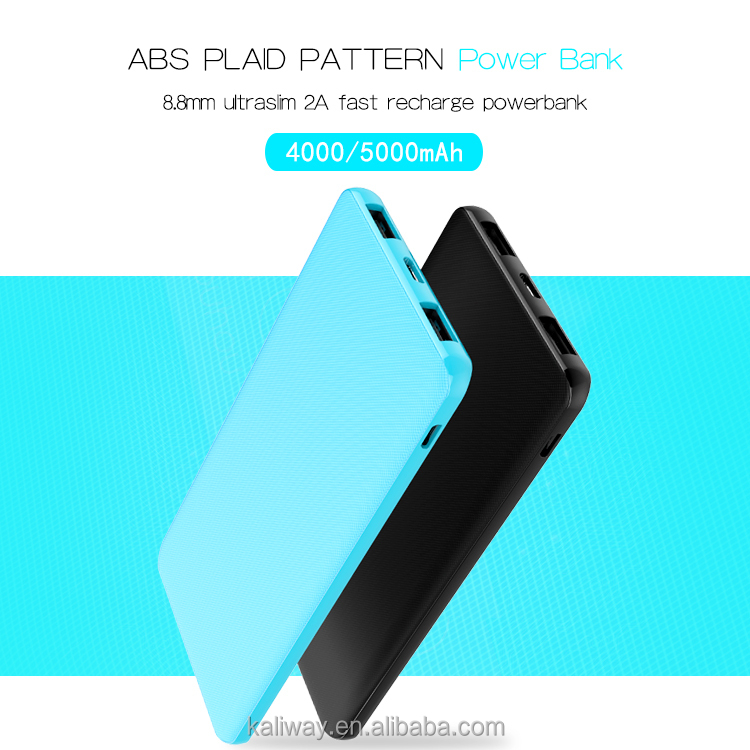 Consumer electronics wholesale OEM 5000mah polymer power bank ,External Battery Portable Charger