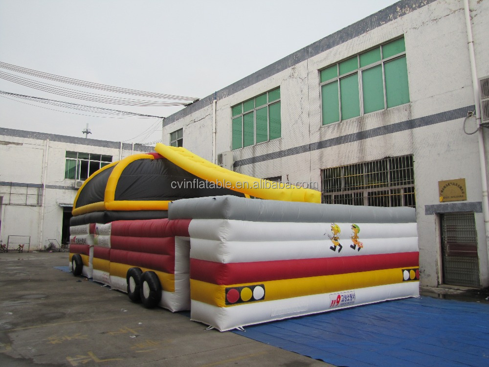 Durable Inflatable Fire Fighting Truck Bouncers, giant inflatable air Jumper, inflatable bounces house for Kids