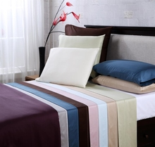 Hotel collection full queen king size solid color bed sheet