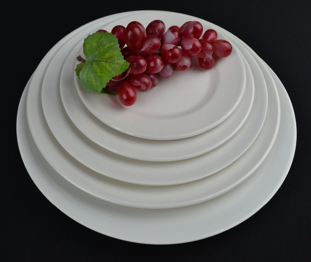 blank Round melamine <strong>plate</strong> white dinner <strong>plate</strong> flat <strong>plate</strong> for hotel
