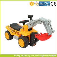Children's electric drive can sit excavator excavator construction vehicles large foot baby toys