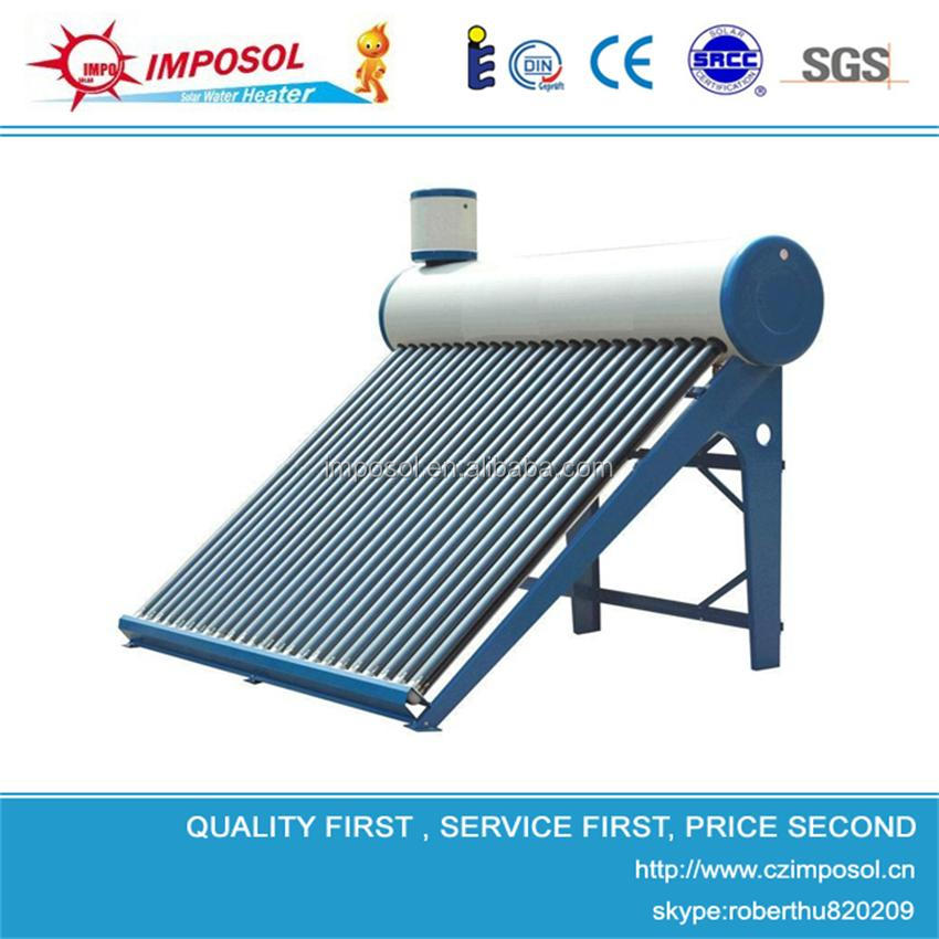 vacuum tube pressurized copper pipe solar powered water heater