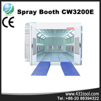 CW3200E used car paint booth for sale with infrared lamps