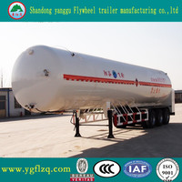China JINGYANGGANG Brand Liquefied Natural Gas transport tank truck LNG semi trailer for sale