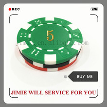 casino plastic magnetic poker chips with gold stamping