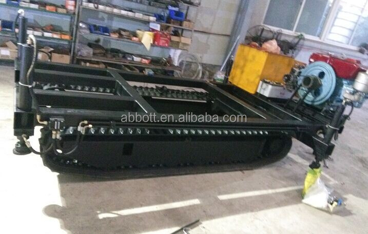 Loading capacity 2T rubber track chassis with hydraulic system for small drill rig