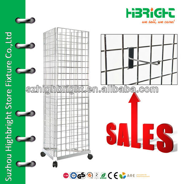 wire mesh gridwall hook display