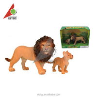 New promotion gift lion family plastic wild animal toys for Kids