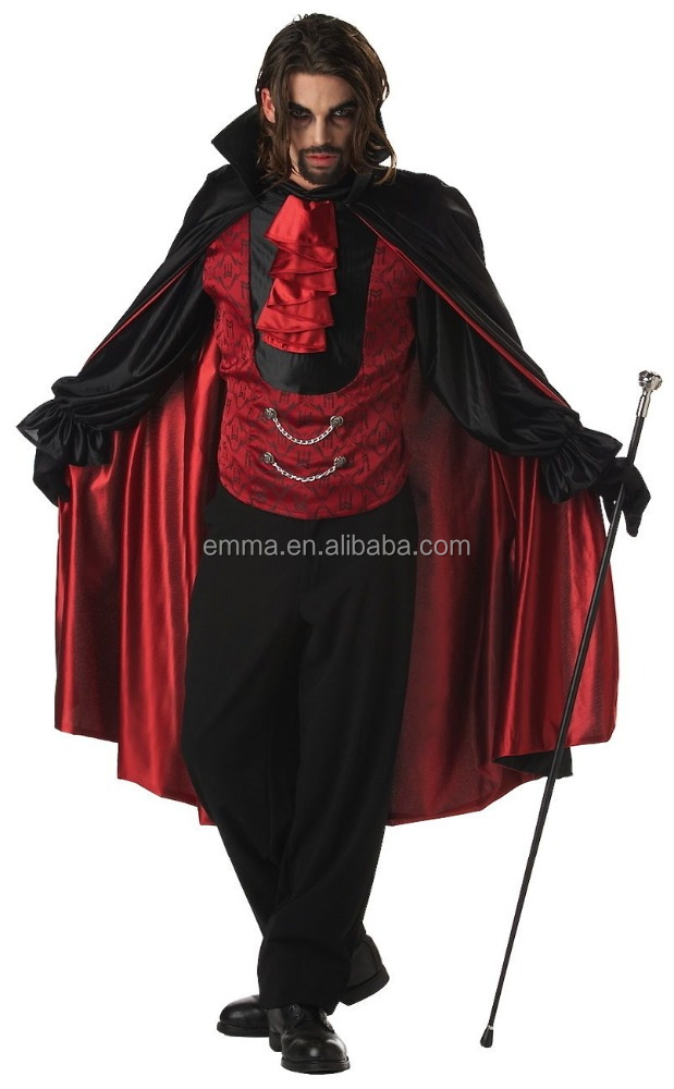 Reasonable price mens plus size halloween vampire costume photos wholesale BMG13018