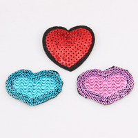 Hot selling DIY Fashion heart Iron sequin embroidery patch P180