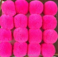 DYE rabbit/fox /raccoon fur pompon made in China tmq-157