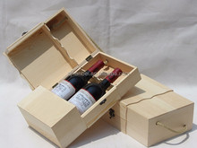 Custom unique design personalised wooden wine boxes hinging wood box for wine